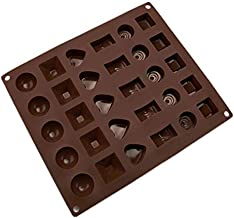 ilicone Mold Molds Chocolate 1 pc 30 Holes Chocolate Mold Silicone 6 Shapes Flowers Square Heart Modelling Cake Molds DIY Fondant Chocolate tools