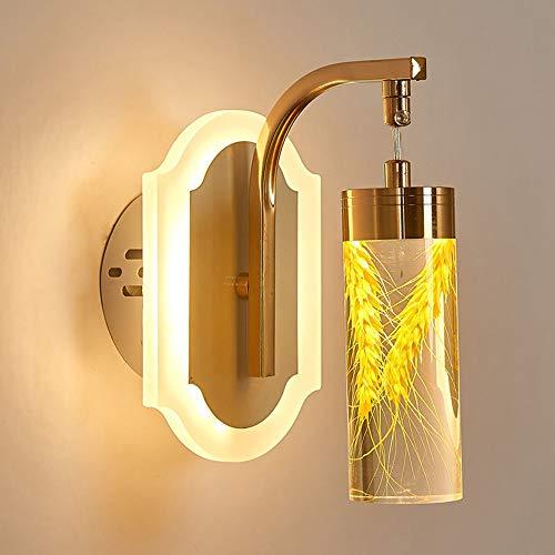 The only goede kwaliteit decoratie eenvoudige en elegante slaapkamer nachtwandlamp/LED acryl echte bloemen achtergrond wandlamp gang decoratie ideeën