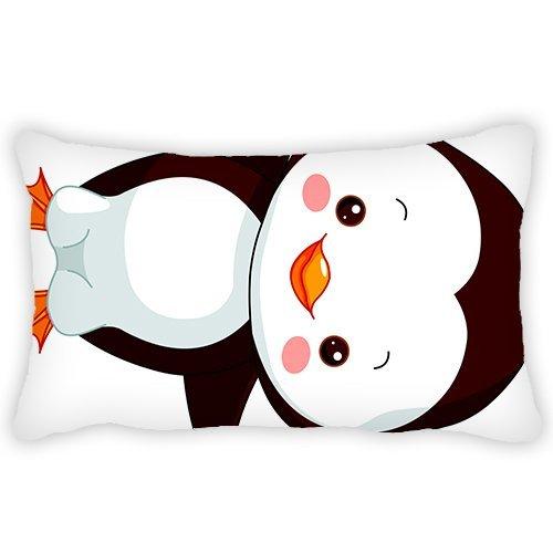 Infantil funda de almohada de dibujos animados adorable pingüino 13x 18cm cómodo Tejido suave y mejor cantidad hipoalergénico para niños