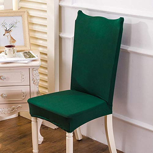 Effen kleur stoelhoes Stretch Wasbare goedkope stoelstoelbekleding Kussenovertrekken voor eetkamer Hotelbanket thuiskantoorstoel, groen, universele maat