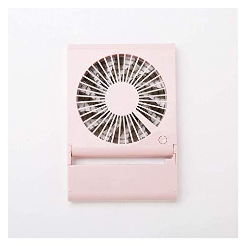 JeeKoudy Ventiladores USB, Ventilador de enfriamiento de Mini Air Slimal, plástico para Cargar la batería USB (Color : Pink, Size : 20.5X14X2cm)