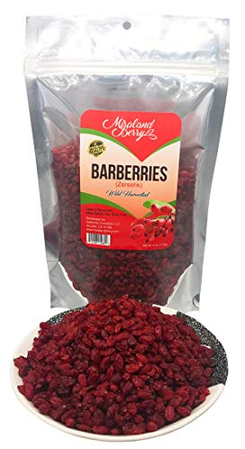 Barberries Dried Natural Barberry Fruit | Antioxidants Rich, Ideal Source of Vitamin C, Great for Skin, Helps Against Acne | Tasty Snack, Great for Dishes, Fruit Salads, Smoothies (6oz)