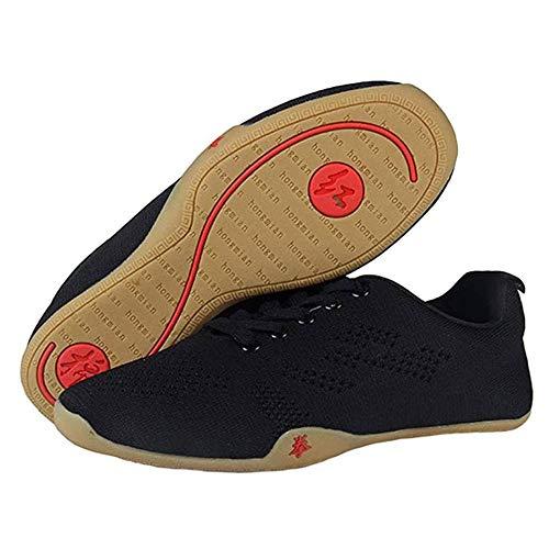 Meng Zapatos de Taekwondo Artes Marciales Zapatilla de Boxeo Karate Kung Fu Tai Chi Zapatos Zapatillas (Color : Black, Size : 36)