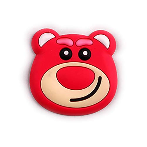 aixu Soporte para Teléfono Móvil Estéreo Cojín De Aire De Dibujos Animados Airbag Soporte para Teléfono Móvil Multicolor Sección Gruesa Rosa Rojo Oso Desafortunado