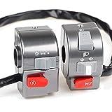 Pieces de Sport Motorise Moto électrique Scooter commutateur Assemblée Cnc en alliage d'aluminium 22mm (Color : Grey)