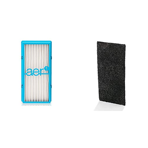 Holmes AER1 HEPA Type Total Air Filter, HAPF30AT, Pack of 1, White & Odor-Reducing Carbon Replacement Filters, 4-Pack