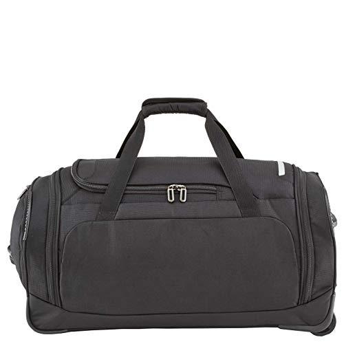 travelite Trolley Reisetasche Größe M, Gepäck Serie CROSSLITE: Robuste Weichgepäck Reisetasche mit Rollen im Business Look, 089502-01, 69 cm, 82 Liter, schwarz