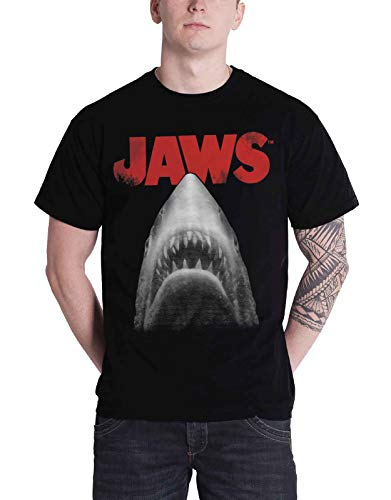Jaws Poster T-Shirt (Black) Official Store T-Shirt - S to XXL