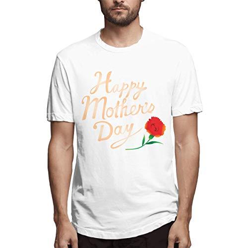 Shirt Muttertag Kalligraphie Happy Muttertag Calligra Ebc Herren Baumwolle lässig T-Shirt