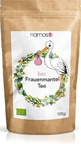 Frauenmanteltee BIO 100g - Frauenmantel in 100% biologischer Spitzenqualität - Loser Tee - Frauenmantelkraut (alchemilla vulgaris) in Deutschland geerntet - von NamasT
