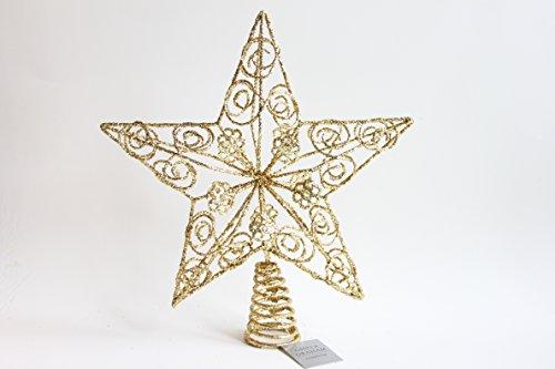 Gisela Graham Fil de métal doré Arbre Top Star 28 cm