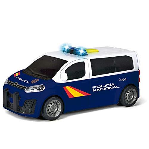 Dickie - Policía Nacional Furgón Citroen Space Tourer a fricción, 15 cm, luz y sonido, puertas se abren (Dickie 1152016)