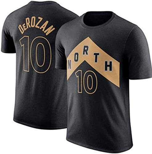 D&L Basketball All-Star-Jersey-Uniform T-Shirt Spurs 10# Demar DeRozan Fans Trikots Training Sweatshirts for Männer Teen Boy (Size : Medium)