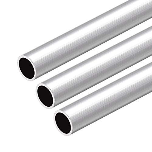 uxcell 6063 Aluminum Round Tube, 300mm Length 15mm OD 13mm Inner Dia Seamless Aluminum Straight Tubing 3 Pcs