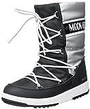 Moon-boot Jr G.Quilted WP, Botas de Nieve Mujer, Silver/Black, 38 EU