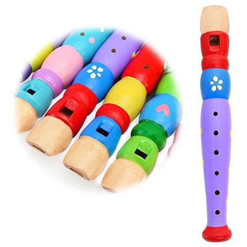 Keepdrum Flöte aus Holz Musik-Spielzeug für Kinder Flieder Lila