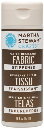 Martha Stewart Crafts Water Resistant Fabric Stiffener (6-Ounce), 32205