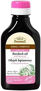 Natural Burdock-Root Oil with Horsetail for Hair & Scalp - To Help Reduce Hair Loss & Stimulate Hair Growth - 100ml
