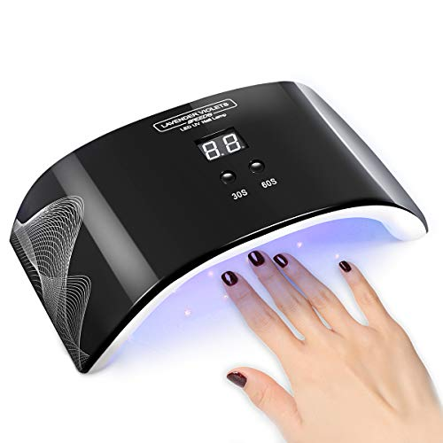 LED Nail Lamp UV Curing Professional Gel Polish Nail Dryer Light 2 Timer...