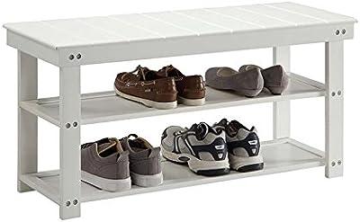 Amazon.com: Yosooo Shoe Bench, 3 Tiers Shoe Rack with Sponge ...