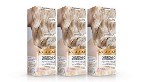 L'Oréal Paris Age Perfect Soin Couleur Embellisseur Touche de OR PROFOND 80 ml - Lot de 3