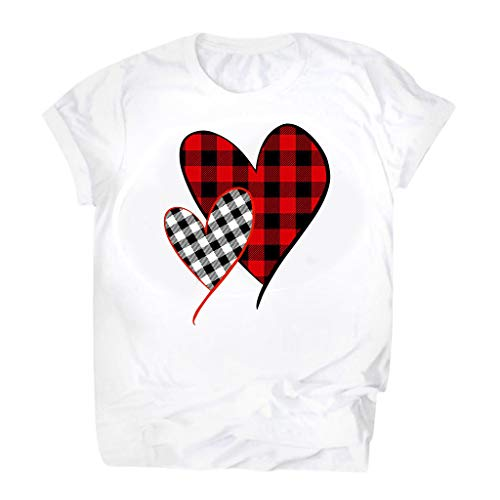 Why Should You Buy Womens Valentine's Day Graphic Tees T Shirts Short Sleeve Heart Printed Tunics To...