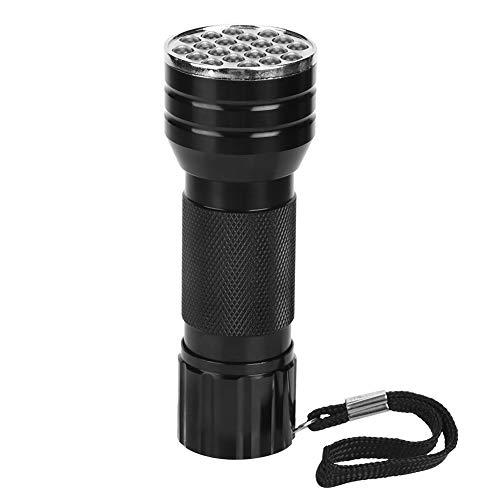 HEEPDD UV-Taschenlampe Heimtierurindetektoren, tragbare 21 LED Ultra Violet Mini-Taschenlampe Haustier Hund Urin-Detektor für Bettwanzen Teppich Teppiche Flecken Überprüfung Gelddokumente(mit Gurt)