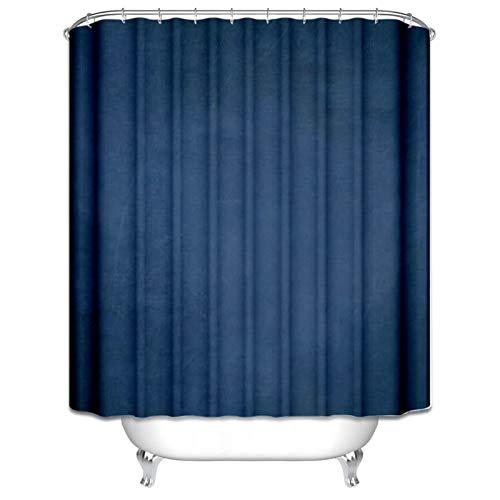 Daesar Polyester-Stoff Badezimmer Duschvorhang 120x180 Dunkelblau Badvorhang Anti-Schimmel