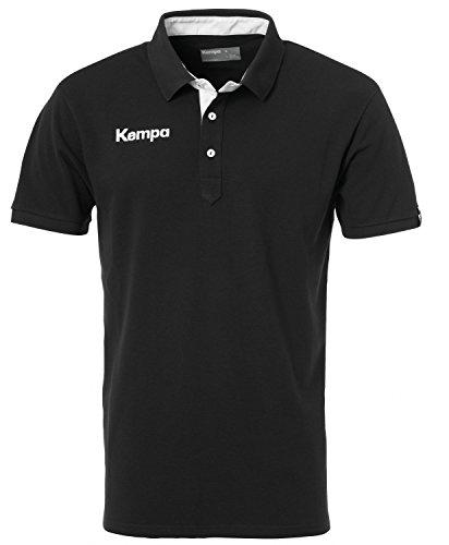 FanSport24 Kempa Prime Polo-Shirt, schwarz/weiß Größe XL