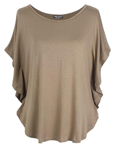 Emma & Giovanni - T-Shirt/Oberteile Kurzarm - Damen (Braun, S-M)