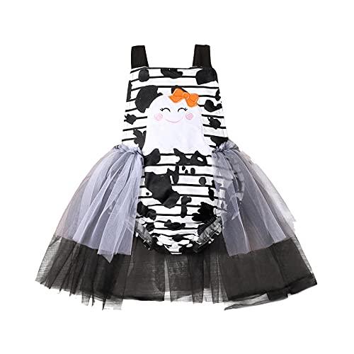 BIBOKAOKE Conjunto de ropa de bebé para niña, body de manga larga, pelele + falda tutú, falda de princesa, minifalda de tul, falda de ballet, falda para cumpleaños, diadema y calentador de piernas