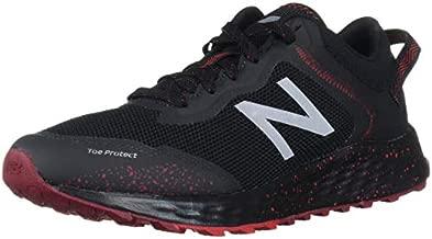 New Balance Men's Fresh Foam Arishi V1 Trail Running Shoe, Black/Team Red, 13 X-Wide