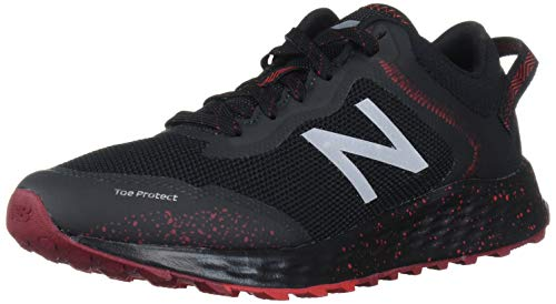 New Balance Men's Fresh Foam Arishi Trail V1 Running Shoe, Black/Team Red, 10 M US