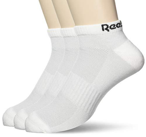 Reebok Te Low Cut Sock 3P Calcetines, Unisex Adulto, Blanco,