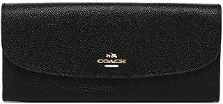 Coach F59949 IMBLK Crossgrain Leather Soft Slim Flap Wallet - Black