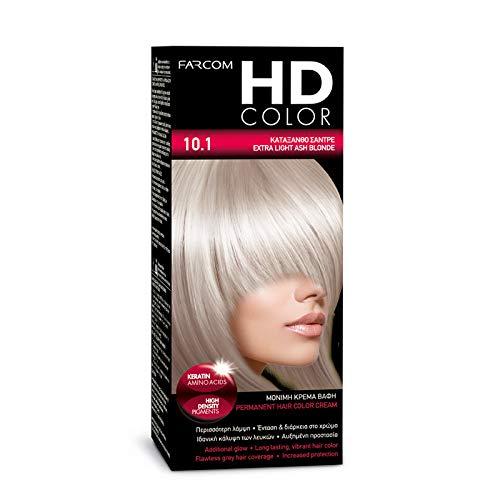 FARCOM HD Haarfarbe mit Keratin Aminosäuren 60ml (10.1 extra light ash blonde)