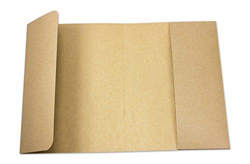 Fotomappe A5, Sammel Mappe für Fotos, Dokumente bis 13 x 19 cm, braun, Kraftkarton, Kraftpapier, unbedruck - 10er Pack