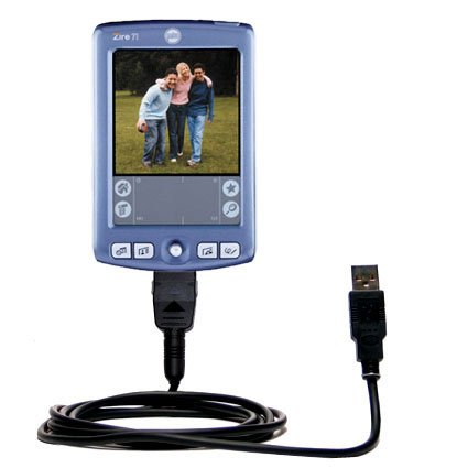Gomadic Hot Sync and Charge Straight USB Cable for The Palm Palm Zire 71 – Charge and Data Sync with The Same Cable. Built TipExchange Technology