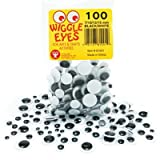 Hygloss Products 8071 Plastic Eyeball Googly Eyes for Arts & Crafts-Non-Adhesive-Paste-On-Size 7mm-Classroom Economy Pack-500 Pcs, Assorted