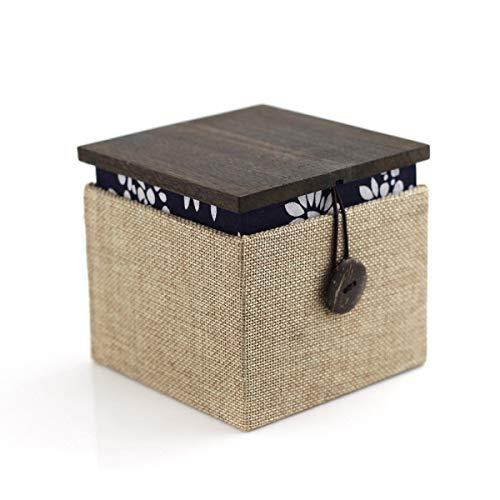 TONGSH Contenitore di monili di legno Contenitore di immagazzinaggio dell'esposizione dell'organizzatore del contenitore di monili di piccola corsa per gli orologi Orologio della collana degli orecchi