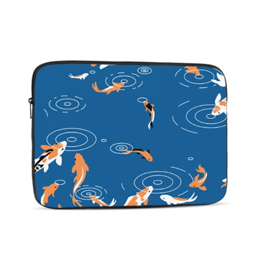 Cover for Laptop Cute Sea Creatures Fish Blue Carp MacBook Pro Screen Protector Multi-Color & Size Choices 10/12/13/15/17 Inch Computer Tablet Briefcase Carrying Bag