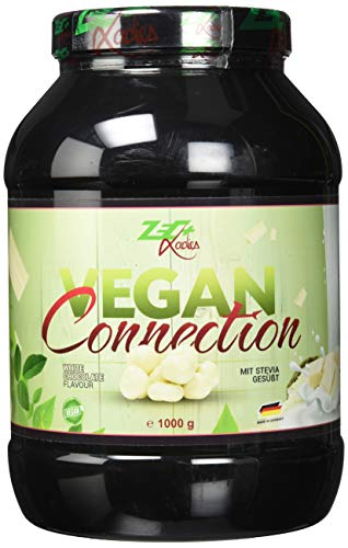ZEC+ LADIES Vegan Connection – 1000 g veganes Proteinpulver für Frauen als Eiweiß-Shake für Fitness & Sport, enthält Reisprotein und Sojaprotein-Isolat, Made in Germany, Geschmack White-Chocolate