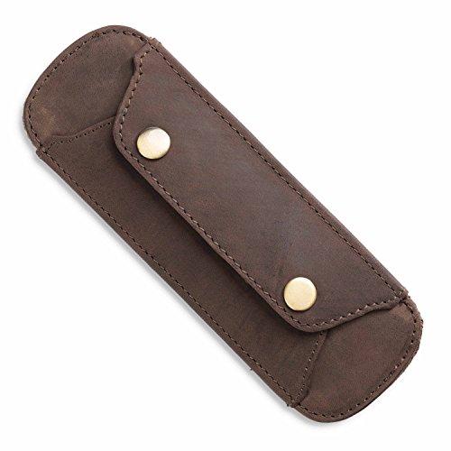LEABAGS shoulder-pad premium comfort for messenger bags of genuine leather - Muskat