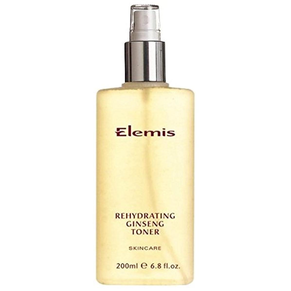 付属品薄める滑り台エレミスは、高麗人参のトナーを再水和スキンケア (Elemis) (x6) - Elemis Skincare Rehydrating Ginseng Toner (Pack of 6) [並行輸入品]