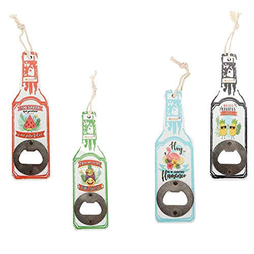 Lote de 20 Abrebotellas Abridor de Madera en Forma de Botella con Frases - Detalles Originales Invitados de Bodas, Regalos Comuniones y Recuerdos para Cumpleaños Infantiles