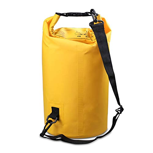 Insulated Lunch Bag Cubo Impermeable portátil al Aire Libre para Montar al Aire Libre Camping Travel Water Sports Bolsa de Almacenamiento Outdoor Quick-Drying Bag (Color : Yellow, Size : 195 * 410mm)