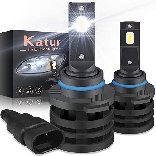 KATUR 9006 HB4 Led Bombillas de Faros Delanteros Diseño Mini Chips de CREE mejorados 12000 LM Kit de conversión LED Todo en uno Impermeable a Prueba de Agua 55W 6500K Xenón Blanco-2 años de garantía