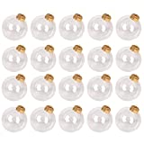 Gesh Bolas de Navidad transparentes de 8 cm de plástico transparente para colgar bolas de...
