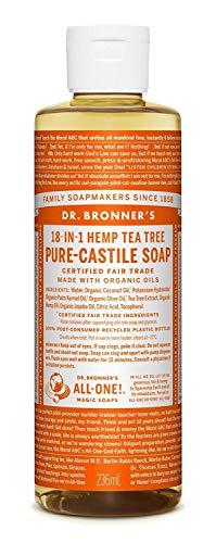 Dr. Bronner's Magic Soap Organic Tea Tree Pure Castile Soap Liquid,  237 ml