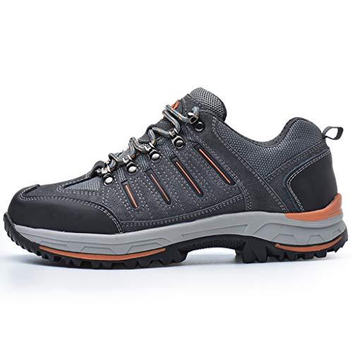 Zapatos de seguridad Zapatos for hombre de las mujeres de peso ligero de trabajo, Punta Acero zapatillas de deporte con cordones, for el camino del bajo-top Calzado | industriales y Obreros | soldador